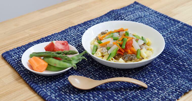 【今月の一皿】あさりと春野菜のスープパスタ