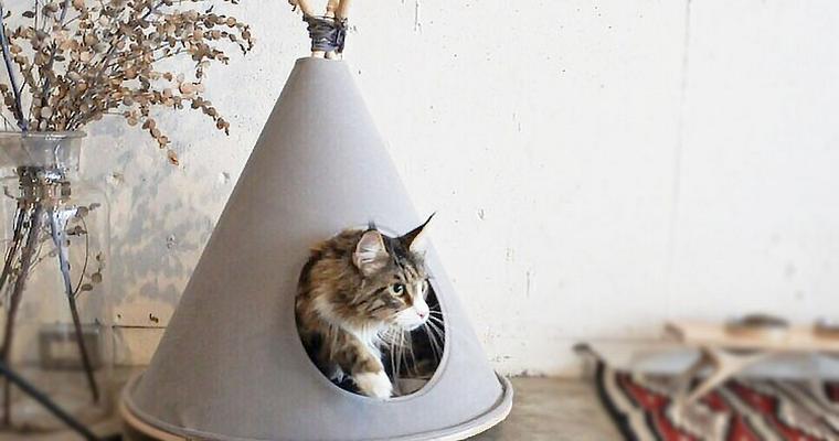 【猫のテントおすすめ8選】おしゃれなティピーからTシャツでの手作り方法まで。災害時の避難用にも◎