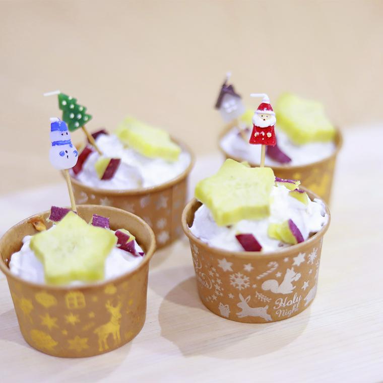 愛犬クリスマスカップケーキ