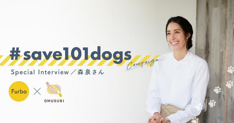森泉さんインタビュー|保護犬支援プロジェクトに参加する想いとは?